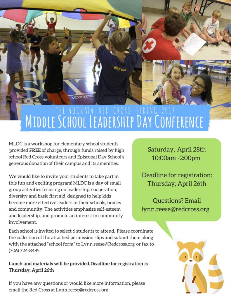Red Cross Middle School Leadership Day Conference