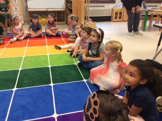 Episcopal Day School (EDS) students on a mat.