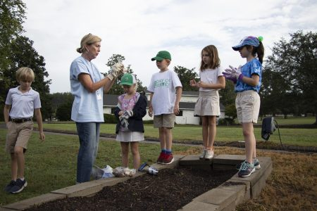 Episcopal Day School (EDS) students outside