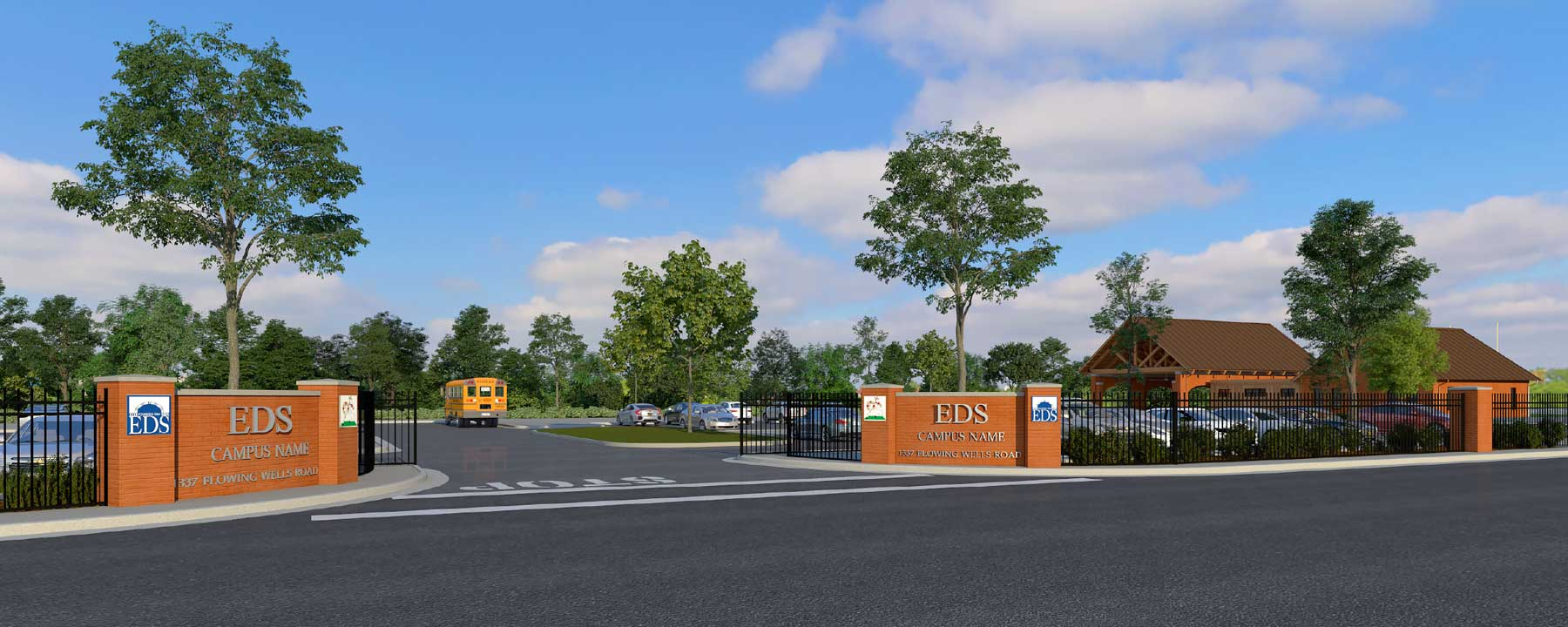 Flowing Wells Campus Entrance Rendering